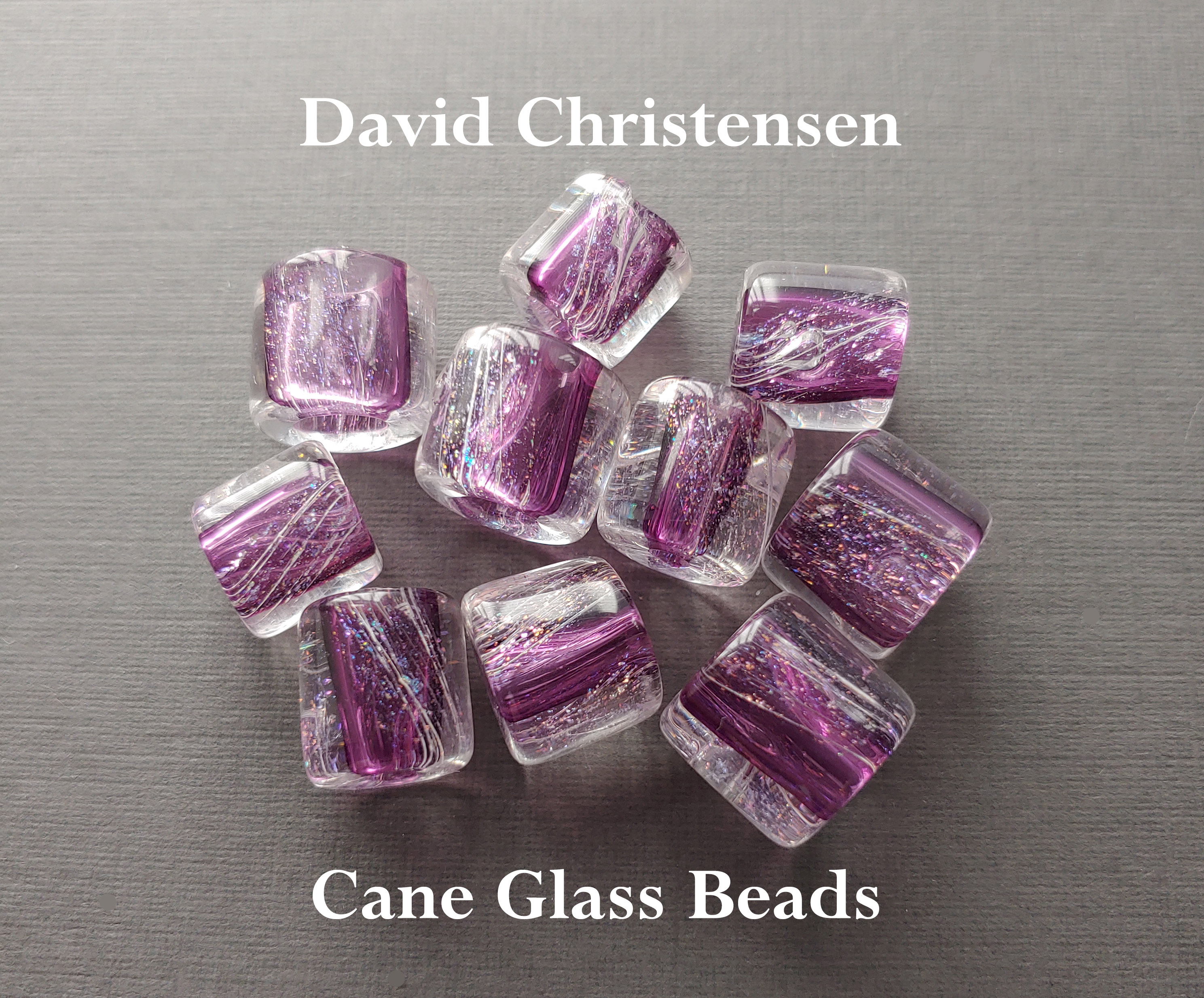 Authentic David Christensen Cane Glass Beads